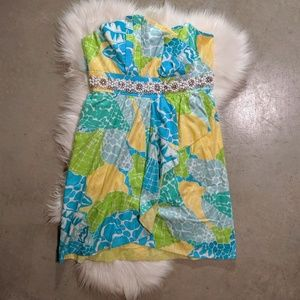 Lilly Pulitzer Crystal Strapless Seashell Print